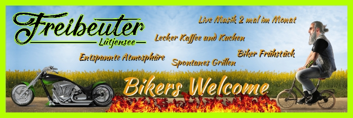 Bikers Welcome Plakat